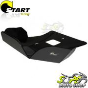 Protetor de Carter Preto Modelo Start Racing - KLX 140 - Kawasaki - Super Moto Shop