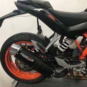 Escape / Ponteira Coyote RS5 Boca 8 Aluminio Oval - Duke 390 / 200 - KTM - Super Moto Shop