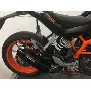 Escape / Ponteira Coyote TRS Tri-Oval Alumínio - Duke 390 / 200 - KTM - Super Moto Shop