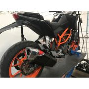 Escape / Ponteira Coyote TRS 2 Way em Alumínio - Duke 390 / 200 - KTM - Super Moto Shop