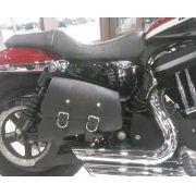 Alforges / Bolsas Laterais (PAR) Rider's Classic em Couro com Gravação Modelo Forty Eight - Universal - Super Moto Shop