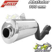 Escape / Ponteira Fortuna Modelo F1 Oval 100mm ALUMÍNIO - Bros NX-R 125/150 até 2008 - Honda - Super Moto Shop