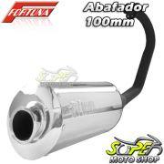 Escape / Ponteira Fortuna Modelo F1 Oval 100mm - CG 125 Titan ES ano 2000 até 2004 - Honda - Super Moto Shop