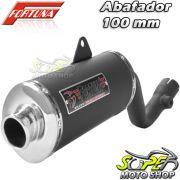 Escape / Ponteira Fortuna Modelo F1 Oval 100mm - Bros NX-R 125/150 até 2008 - Honda - Super Moto Shop