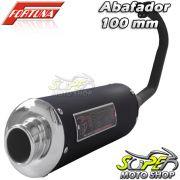 Escape / Ponteira Fortuna Modelo F1 Oval 100mm - CG 150 Titan ESD até 2008 - Honda - Super Moto Shop
