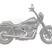 Escapamento Esportivo Torbal Modelo Thunderbolt 2X1 - HD Dyna Super Glide ano 2012 em Diante - Harley Davidson - Super Moto Shop