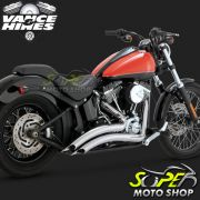 Escapamento Vance & Hines Big Radius 2 Into 2 - Cromado - Softail 1986 - 2017 - Super Moto Shop