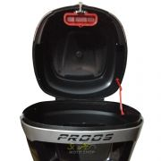 Bauleto / Bau Traseiro Proos Modelo P290 (29 Litros) - Lente Branca - Super Moto Shop