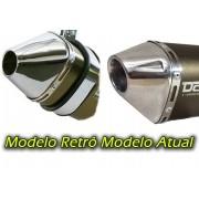 Escape / Ponteira Alumínio Dore + Curva em Inox - Bros 150 & Bros 160 - Azul - Honda - Super Moto Shop