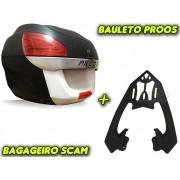 Kit Bauleto / Bau Traseiro Proos P290 (29 Litros) + Bagageiro Scam - Twister CB 250 2016 em Diante - Honda - Super Moto Shop