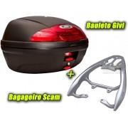 Kit Bauleto / Bau Traseiro Givi 45 Litros + Bagageiro Scam - CG 160 Fan / Start ano 2016 em Diante - Honda - Super Moto Shop