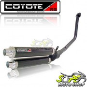 Escape / Ponteira Coyote Competition Alumínio Duplo CBX Twister 250 - Preto - Honda