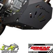 Protetor de Carter Roncar em A�o Carbono Preto DL V-Strom 650 2013 em Diante - Suzuki