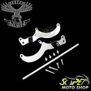 Protetor de Motor / Mata Cachorro Dalavas com Pedaleiras - Vulcan 800 Classic
