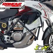Protetor de Motor e Carenagem Roncar Preto Fosco - Transalp 700 - Honda
