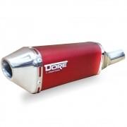 Escape / Ponteira Alumínio Dore + Curva em Inox - CG 150/125 Titan / Fan KS ESi ESDi EX 2000 até 201