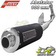 Escape / Ponteira Fortuna Modelo F1 Oval 100mm - Neo AT 115 - Yamaha - Super Moto Shop