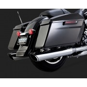 Ponteira Vance & Hines Twin Slash Round - Cromada - HD Touring Road King / Street Glide / Electra & Ultra Glide Limited 2017 em Diante - Harley Davidson - Super Moto Shop