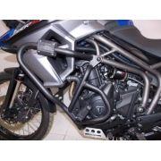 Protetor de Motor e Carenagem Chapam Preto - Tiger 800 XC / XR / XCX / XRX & ABS - Triumph - Super Moto Shop