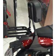 Sissy Bar / Encosto c/ Bagageiro Modelo Rasante - HD Sportster Roadster 1200 - Harley Davidson - Super Moto Shop