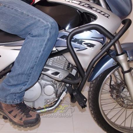 Protetor de Motor e Carenagem Chapam Preto - Falcon NX 400 até 2008 - Honda