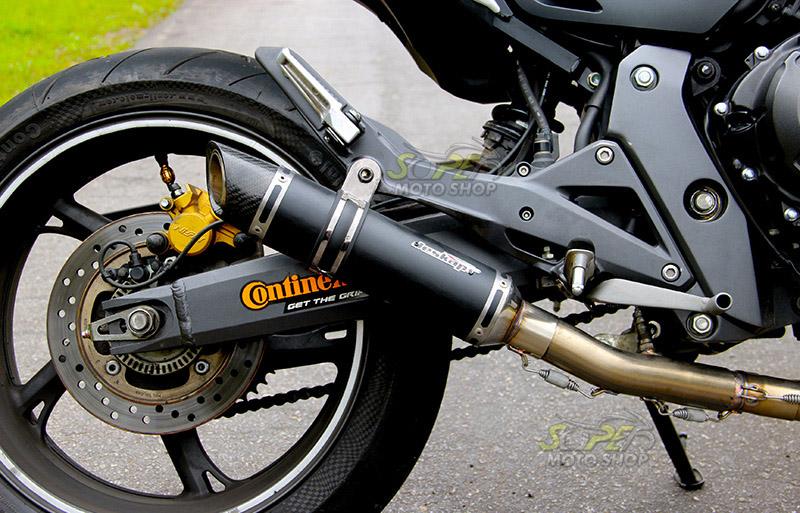 Escape / Ponteira Jeskap GP Carbon em Alumínio Full (4X2X1) - Hornet CB 600 ano 2008 em Diante - Honda