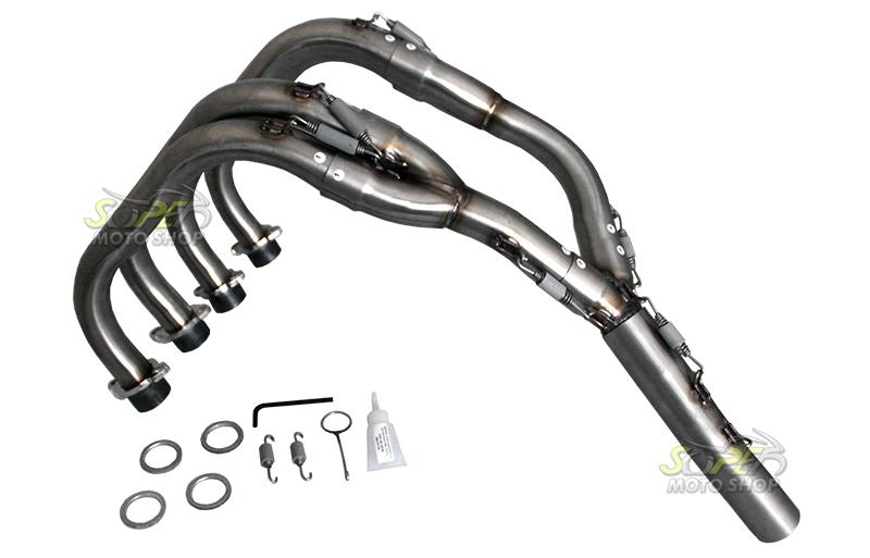 Escape / Ponteira Jeskap MINI GP Carbon em Alumínio Full (4X2X1) - Hornet CB 600 ano 2008 em Diante - Honda