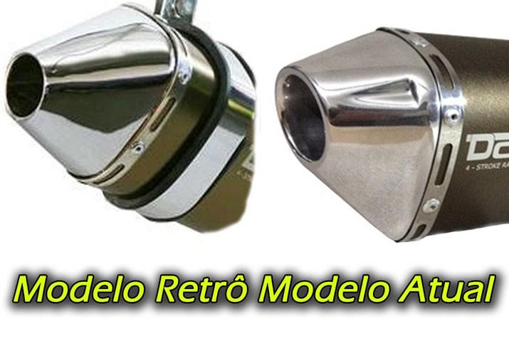 Escape / Ponteira Alumínio Dore + Curva em Inox - CG 150/125 Titan / Fan KS ESi ESDi EX 2000 até 2015 - Vermelho - Honda