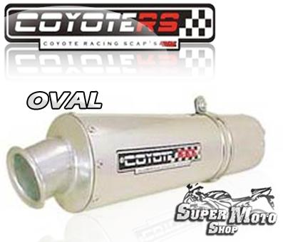 Escape / Ponteira Coyote RS3 Aluminio Polido Oval - Elefante 900 - Cagiva