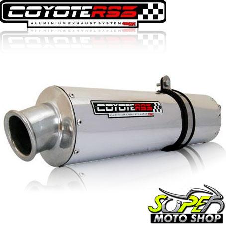 Escape / Ponteira Coyote RS3 Aluminio Oval NX-R Bros 150 2009 em Diante - Polido - Honda