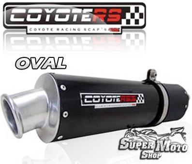 Escape / Ponteira Coyote RS3 Aluminio Preto Oval - XR 250 Tornado Até ano 2006