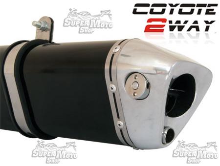 Escape / Ponteira Coyote TRS 2 WAY Alumínio - Twister CB 250 ano 2015 em Diante - Polido - Honda