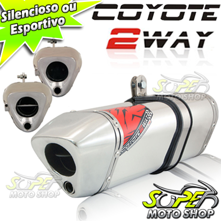 Escape / Ponteira Coyote TRS 2 Way Alumínio - Z-800 - Polido - Kawasaki