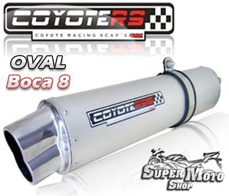 Escape / Ponteira Coyote RS5 Aço Inox Oval boca em 8  - Bandit 1200 Ano 2004 até 2006 - Suzuki