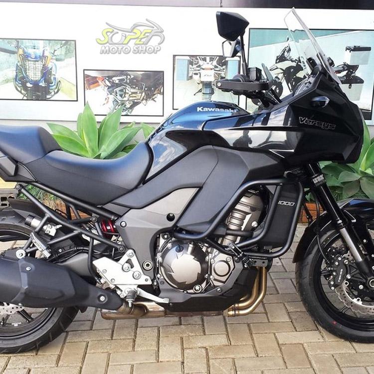 Protetor de Motor / Carenagem Lateral Modelo Livi Preto Fosco - Versys 1000 até 2014 - Kawasaki