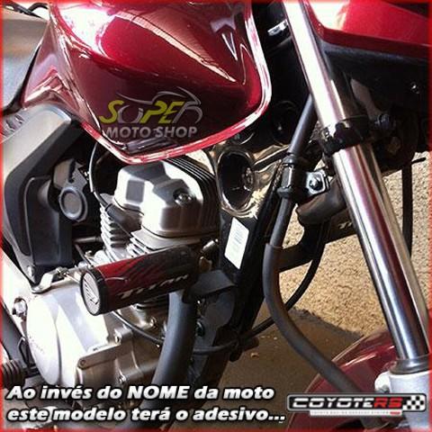 Slider Dianteiro Coyote (PAR) CG 150 Titan 2005 até 2008 - Honda - Vermelho & Preto c/ Anel Vermelho