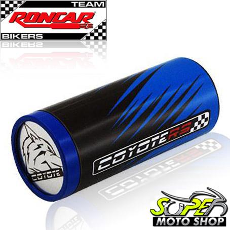 Slider Dianteiro Coyote (PAR) CG 150 Titan 2005 até 2008 - Honda - Azul & Preto c/ Anel Azul