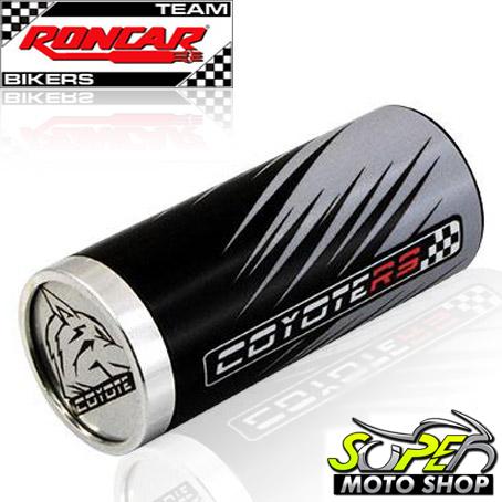 Slider Dianteiro Coyote (PAR) CG 150 Titan 2005 até 2008 - Honda - Prata & Preto c/ Anel Polido