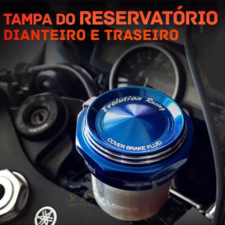 Tampa do Reservatório de Freio Traseira ou Dianteira Modelo Evolution Racing