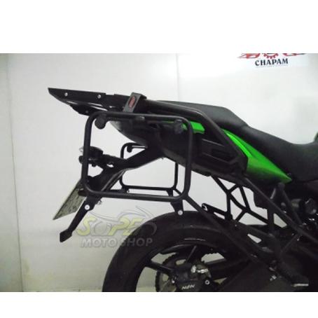 Suporte Lateral Chapam Preto para Side Case Givi - Versys 650 ano 2017 em Diante - Kawasaki