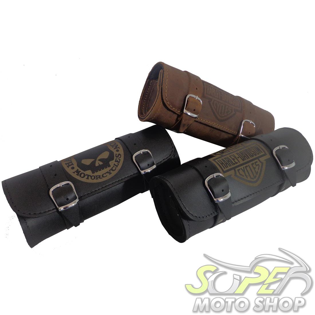 Porta Ferramentas Rider's Classic em Couro Modelo 30cm com Gravação - Universal