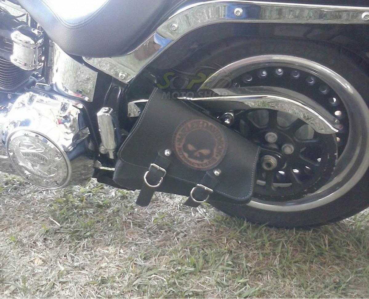 Bolsas P/ Balança Modelo Rider's Classic em Couro com Gravação Modelo Forty Eight - Universal