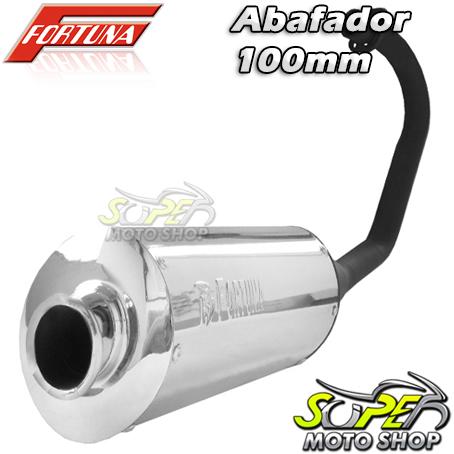 Escape / Ponteira Fortuna Modelo F1 Oval 100mm ALUMÍNIO - CG 125 Titan / Fan KS ano 2000 até 2008 - Honda
