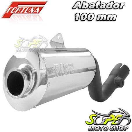 Escape / Ponteira Fortuna Modelo F1 Oval 100mm ALUMÍNIO - Bros NX-R 125/150 até 2008 - Honda