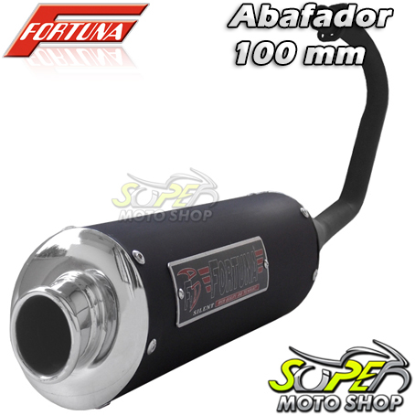 Escape / Ponteira Fortuna Modelo F1 Oval 100mm - CG 125 Titan/Fan KS ano 2000 até 2008 - Honda