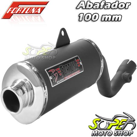Escape / Ponteira Fortuna Modelo F1 Oval 100mm - Bros NX-R 125/150 até 2008 - Honda