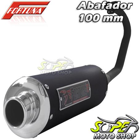 Escape / Ponteira Fortuna Modelo F1 Oval 100mm - CG 150 Sport até 2008 - Honda