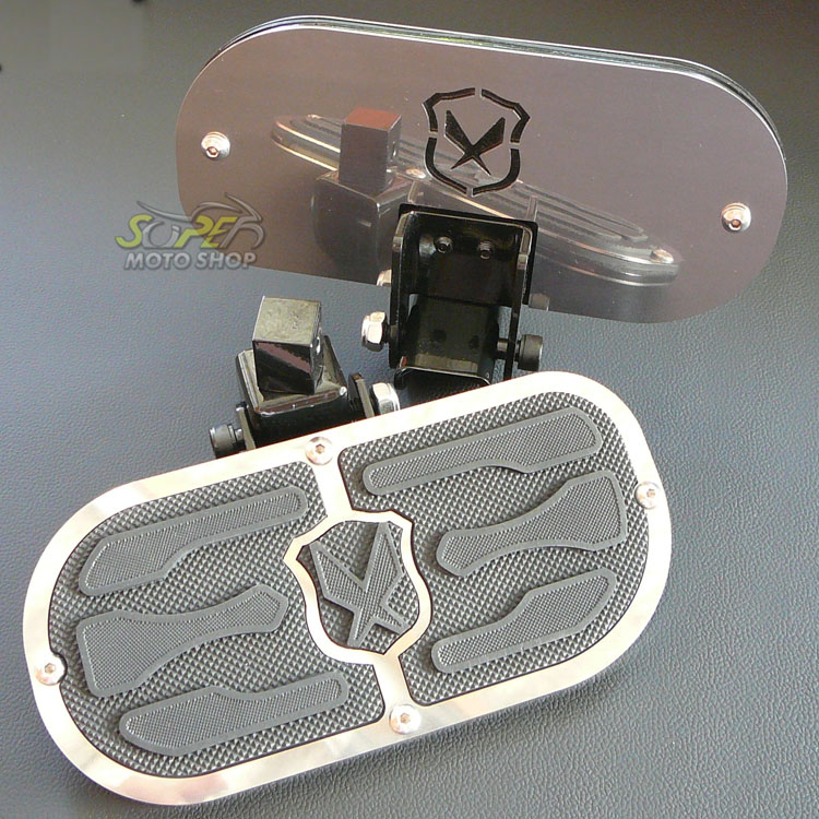 Plataforma Traseira JMX Fixa Modelo Free (PAR) - HD Dyna Super Glide / Fat Bob / Low Rider / Switchback - Harley Davidson