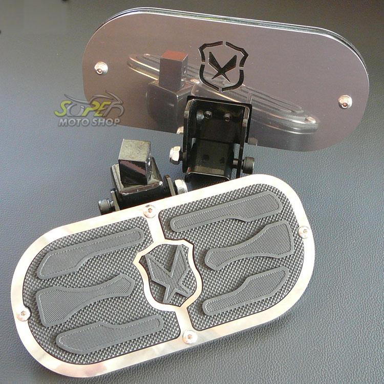 Plataforma Traseira JMX Articulada Modelo Free (PAR) - HD Dyna Super Glide / Fat Bob / Low Rider / Switchback - Harley Davidson