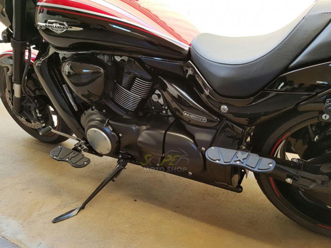Kit Plataformas Dianteiras Fixas + Traseiras Articuladas Modelo Sport - Drag Star 650 - Yamaha